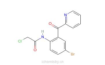 CAS:41526-21-0_N-[4-溴-2-(2-吡啶甲酰基)苯基]-2-氯乙酰胺的分子结构