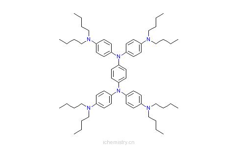 CAS:4182-80-3_N,N,N',N'-四(4-二丁基氨基苯基)-1,4-苯二胺的分子结构