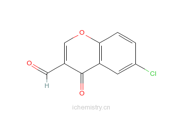 CAS:42248-31-7_6-氯-3-甲酰色酮的分子结构