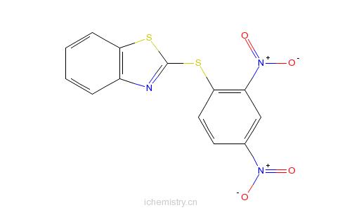 CAS:4230-91-5_2-(2,4-二硝基苯基硫代)苯骈噻唑的分子结构