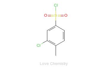 CAS:42413-03-6_3-氯-4-甲基苯磺酰氯的分子结构