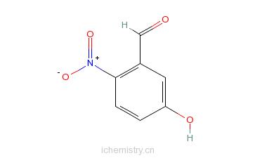 CAS:42454-06-8_5-羟基-2-硝基苯甲醛的分子结构