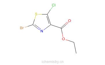 CAS:425392-44-5_2-溴-5-氯噻唑-4-羧酸乙酯的分子结构