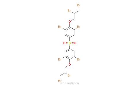 CAS:42757-55-1_四溴双酚S双(2,3-二溴丙基)醚的分子结构