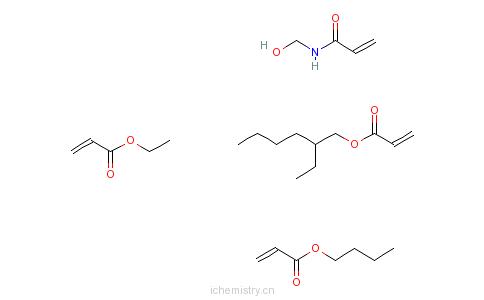 CAS:42815-42-9_丙烯酸丁酯、丙烯酸-2-乙基己酯、丙烯酸乙酯和N-(羟甲基)-2-丙烯酰胺的聚合物的分子结构