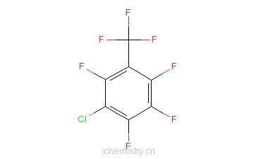 CAS:4284-09-7_3-氯-2,4,5,6-四氟三氟甲基苯的分子结构