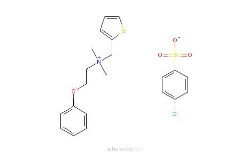 CAS:4304-40-9_西尼铵氯苯磺酸的分子结构