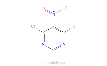 CAS:4316-93-2_4,6-二氯-5-硝基嘧啶的分子结构