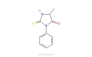 CAS:4333-19-1_苯基硫代乙内酰脲-丙氨酸的分子结构