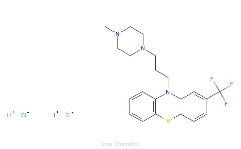 CAS:440-17-5_盐酸三氟拉嗪的分子结构