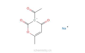 CAS:4418-26-2_脱氢醋酸钠的分子结构