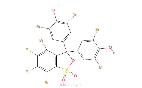 CAS:4430-25-5_四溴酚蓝的分子结构