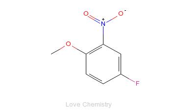 CAS:445-83-0_4-氟-2-硝基苯甲醚的分子结构