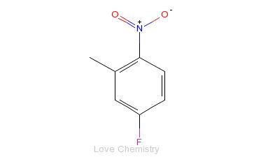 CAS:446-33-3_5-氟-2-硝基甲苯的分子结构