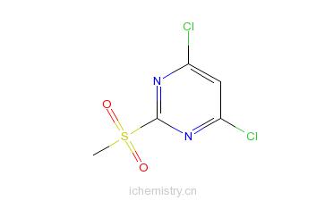 CAS:4489-34-3_4,6-二氯-2-甲砜基嘧啶的分子结构