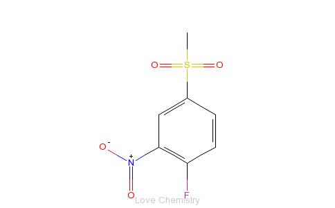 CAS:453-72-5_2-氟-5-甲基磺酰硝基苯的分子结构