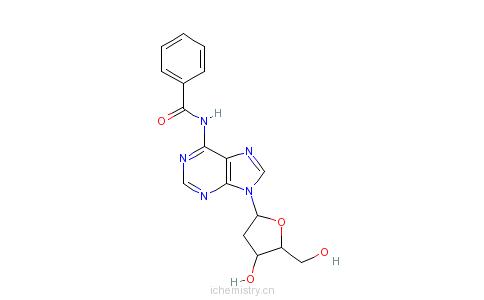 CAS:4546-72-9_N-苯甲酰基-2'-脱氧腺苷的分子结构