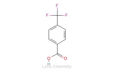 CAS:455-24-3_4-三氟甲基苯甲酸的分子结构