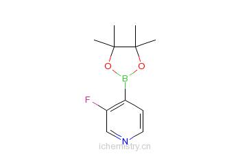 CAS:458532-88-2_3-氟-吡啶-4-硼酸-频哪酯的分子结构