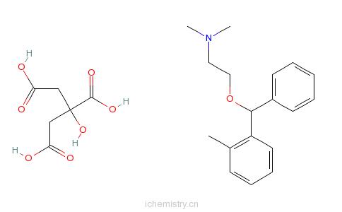 CAS:4596-23-0_枸橼酸奥芬那君的分子结构