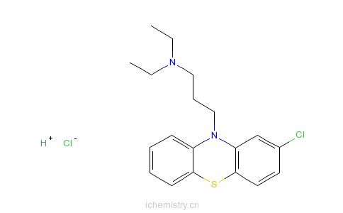 CAS:4611-02-3_氯丙沙嗪盐酸盐的分子结构