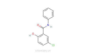 CAS:4638-48-6_5-氯水杨酰苯胺的分子结构