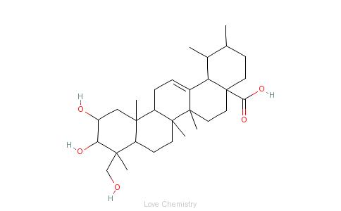 CAS:464-92-6_积雪草酸的分子结构