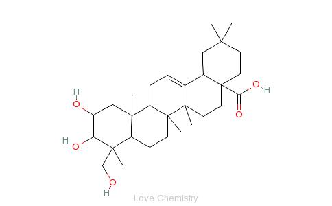 CAS:465-00-9_阿江榄仁酸的分子结构