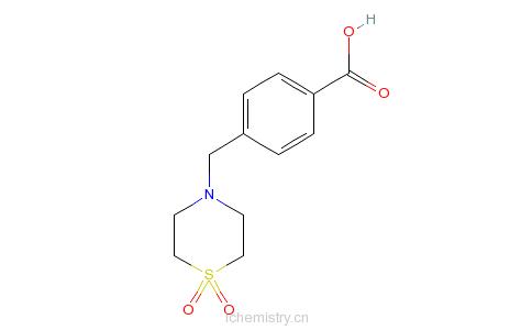 CAS:465514-21-0_4-(4'-羧苄基)硫代吗啉-1,1-二氧的分子结构