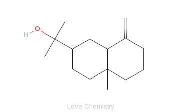 CAS:473-15-4_beta-桉叶醇的分子结构