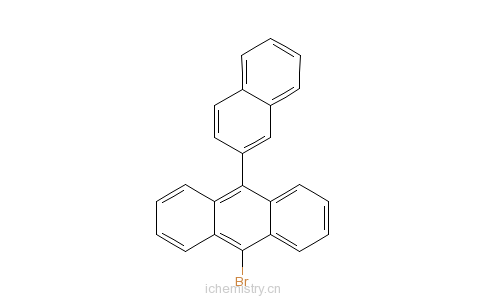 CAS:474688-73-8_9-溴-10-(2-萘基)蒽的分子结构