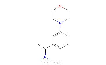CAS:477312-45-1_1-(3-吗啉-4-苯基)乙胺的分子结构