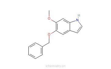 CAS:4790-04-9_5-苄氧基-6-甲氧基吲哚的分子结构