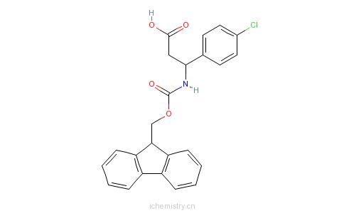 CAS:479064-92-1_Fmoc-(R)-4-氯苯基-beta-苯丙氨酸的分子结构