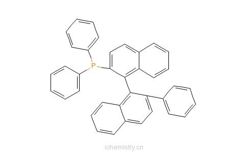 CAS:479079-13-5_S-(+)-1,1'-联萘-2'-苯基-2-二苯膦的分子结构