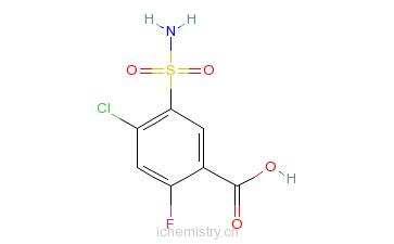 CAS:4793-22-0_4-氯-2-氟-5-氨磺酰苯甲酸的分子结构