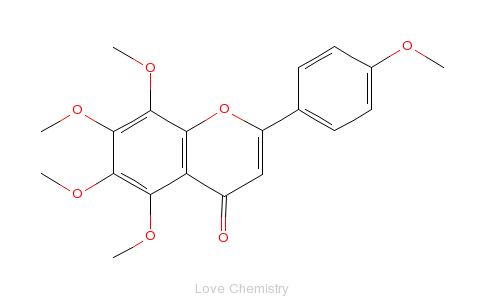 CAS:481-53-8_桔皮素的分子结构