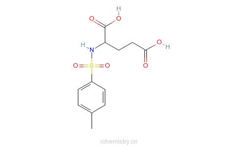 CAS:4816-80-2_N-(4-甲基苯磺酰基)-L-谷氨酸的分子结构