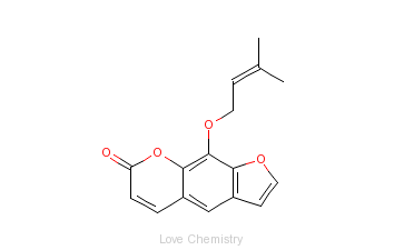 CAS:482-44-0_欧前胡素的分子结构