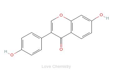 CAS:486-66-8_大豆素的分子结构