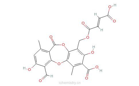 CAS:489-50-9_反丁烯原冰岛衣酸酯的分子结构