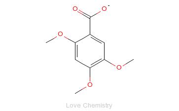 CAS:490-64-2_2,4,5-三甲氧基苯甲酸的分子结构