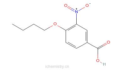 CAS:4906-28-9_4-丁氧基-3-硝基苯甲酸的分子结构