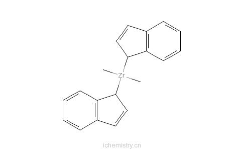 CAS:49596-04-5_双(茚基)二甲基锆的分子结构