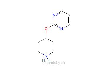 CAS:499240-48-1_2-(哌啶-4-基氧代)嘧啶的分子结构