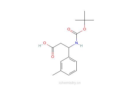 CAS:499995-75-4_Boc-3-甲基-D-beta-苯丙氨酸的分子结构