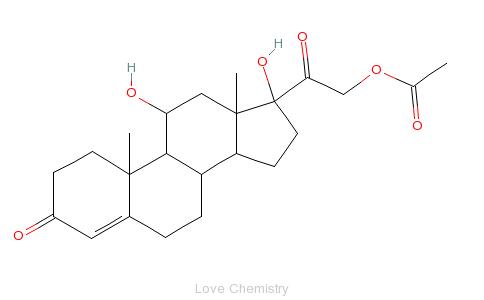CAS:50-03-3_醋酸氢化可的松的分子结构