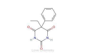 CAS:50-06-6_苯巴比妥的分子结构
