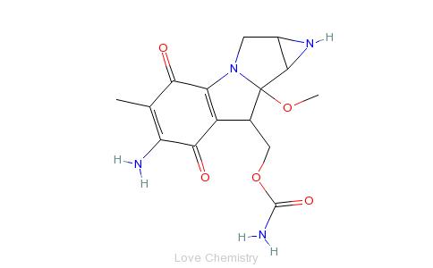 CAS:50-07-7_丝裂霉素C的分子结构