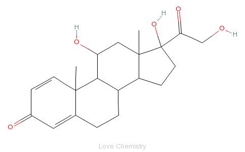 CAS:50-24-8_泼尼松龙的分子结构